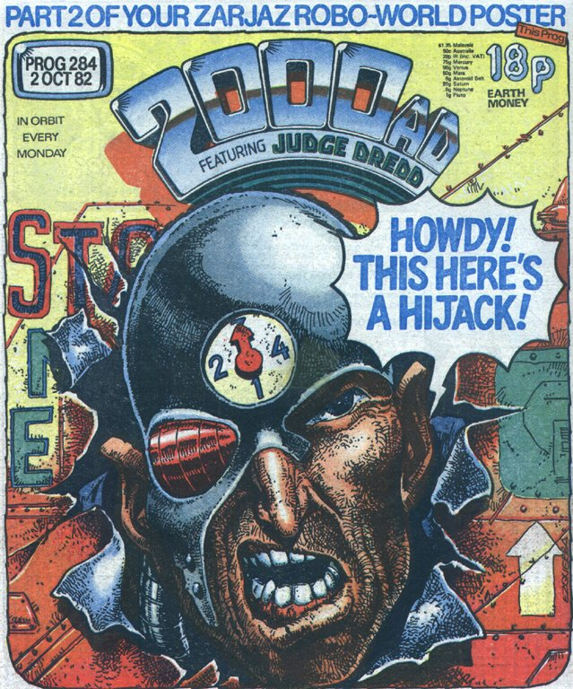 Mean Machine Angel by Carlos Ezquerra, 2000AD prog 284, 1982